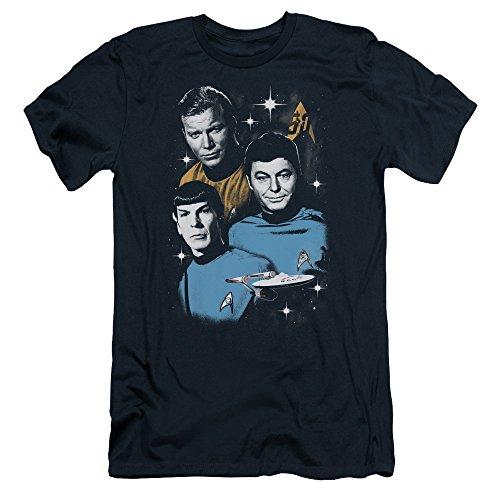 Star Trek 50th Anniversary All Star Crew T-Shirt Navy XL