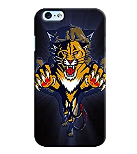 Blue Throat Panther Roaring For Hunt Printed Designer Back Cover For Apple iPhone 6 Plus