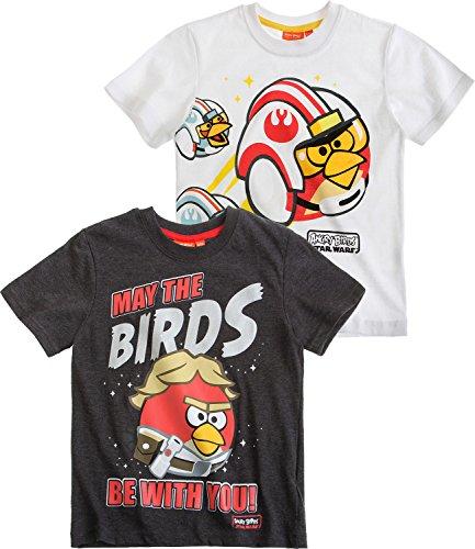 Angry Birds Star Wars Ragazzi T-Shirt pacco da 2 - bianco - 116