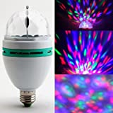 SODIALR 3W E27 RGB Crystal Ball Rotating LED Stage Light Bulb for Club DJ Disco Party