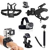 SAVFY® 7 IN 1 GoPro Sport Kamera Zubehör-Set 7 Stück...