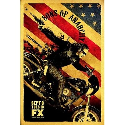 Sons of Anarchy Let Freedom Ride FX TV Poster - 69x102 cm
