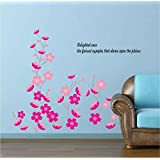 Decals Arts Peach Blossom Dance Wall Sticker For Home Decoration
