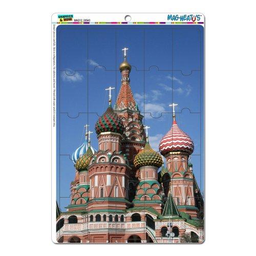 KreML St Basil'S Cathedral Russland MAG-NEATO'(TM) S Novelty Gift Locker Kühlschrank Vinyl Puzzle Magnet Set