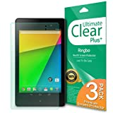Rearth ULTIMATE CLEAR PLUS - New Google Nexus 7 2013 2nd Generation HD Clear Screen Protector w/ Lifetime Replacement Warranty - Screen Protectors - Retail Packaging - Clear