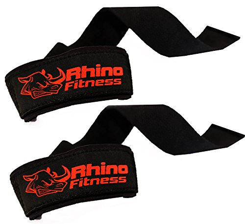 Weight Lifting Wrist Straps 100% Cotton with 3mm Neoprene Cushion ~ 23×1.5 Inches Long Black