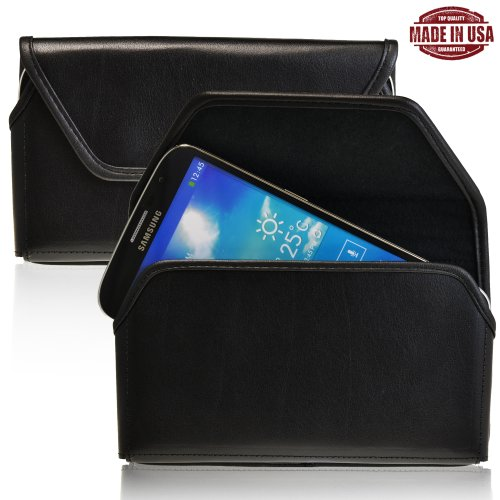 Turtleback Samsung Galaxy Mega 6.3 Genuine Leather Holster Case Pouch With Metal Belt Clip - Made In Usa