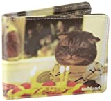 Toddland Men's Kitty Bday Wallet, Yellow, One Size