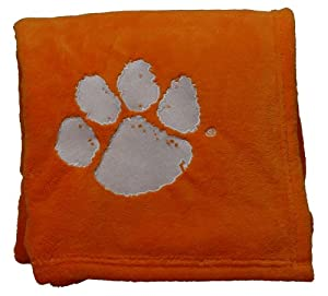 Buy Clemson Tigers Embroidered Fleece Throw (50 x 70-inch) by Scene Weaver
