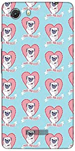 Snoogg Pugs And Kisses Cute Designer Protective Back Case Cover For Micromax ...