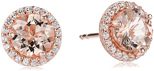 18k-Rose-Gold-over-Sterling-Silver-Pink-Morganite-with-Created-White-Sapphire-Halo-Stud-Earrings