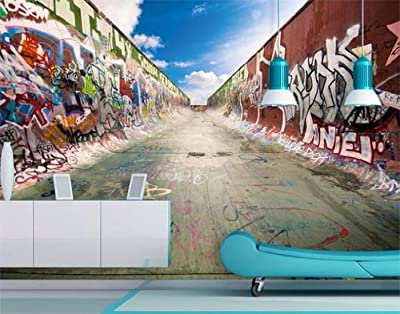 Photo Wall Mural No145 Graffiti Half Pipe 400x280cm Skater Skates Board Spraying Graffiti Graffiti Painting Painting Wallpaper Photo Wallpaper Childrens Youth Room Decorations Low-priced