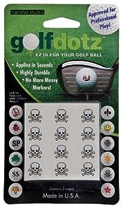 Golfdotz Skullmania Stickers décoratifs pour balles de golf (Noir)