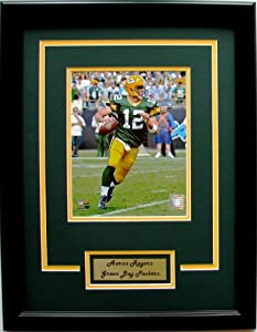 NFL Green Bay Packers Aaron Rodgers Framed Portrait Photo with Nameplate by CGI Sports Memories