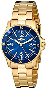 I By Invicta Women's 89051-006 18k Gold-Plated Stainless Steel Blue Dial Watch