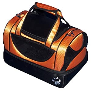 Aviator Bag Pet Carrier in Tangerine Size: Large by Pet Gear