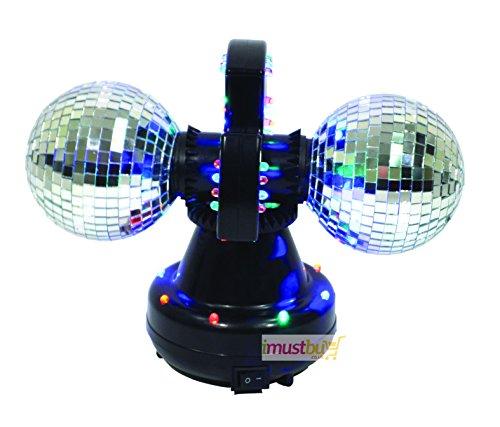 imustbuy Cheetah Twin Ball 4pollici palla a specchio effetto luce LED per feste quindi notte