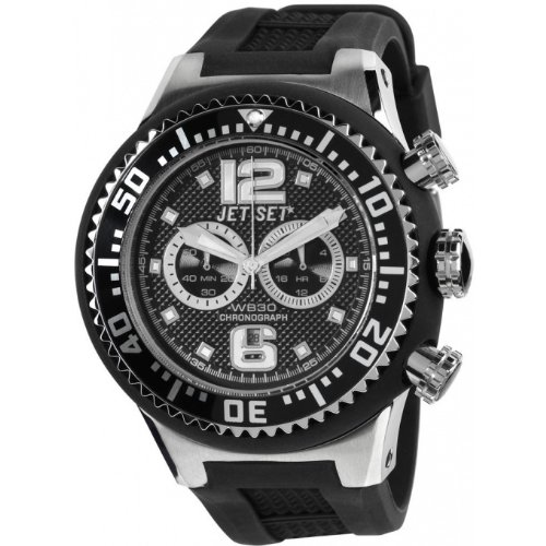 Jet Set J74443-267 - Reloj unisex, correa de silicona color negro
