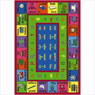 "Educational Lengualink French Kids Rug Size: 5'4"" x 7'8"""