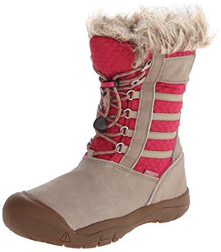 KeenWAPATO WP Y - Stivali e stivaletti da neve con calda imbottitura Bambina , Beige (Beige (BRINDLE/CERISE)), 34