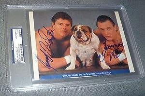 British Bulldogs Davey Boy Smith Dynamite Kid Signed Magazine Photo WWE - PSA DNA...