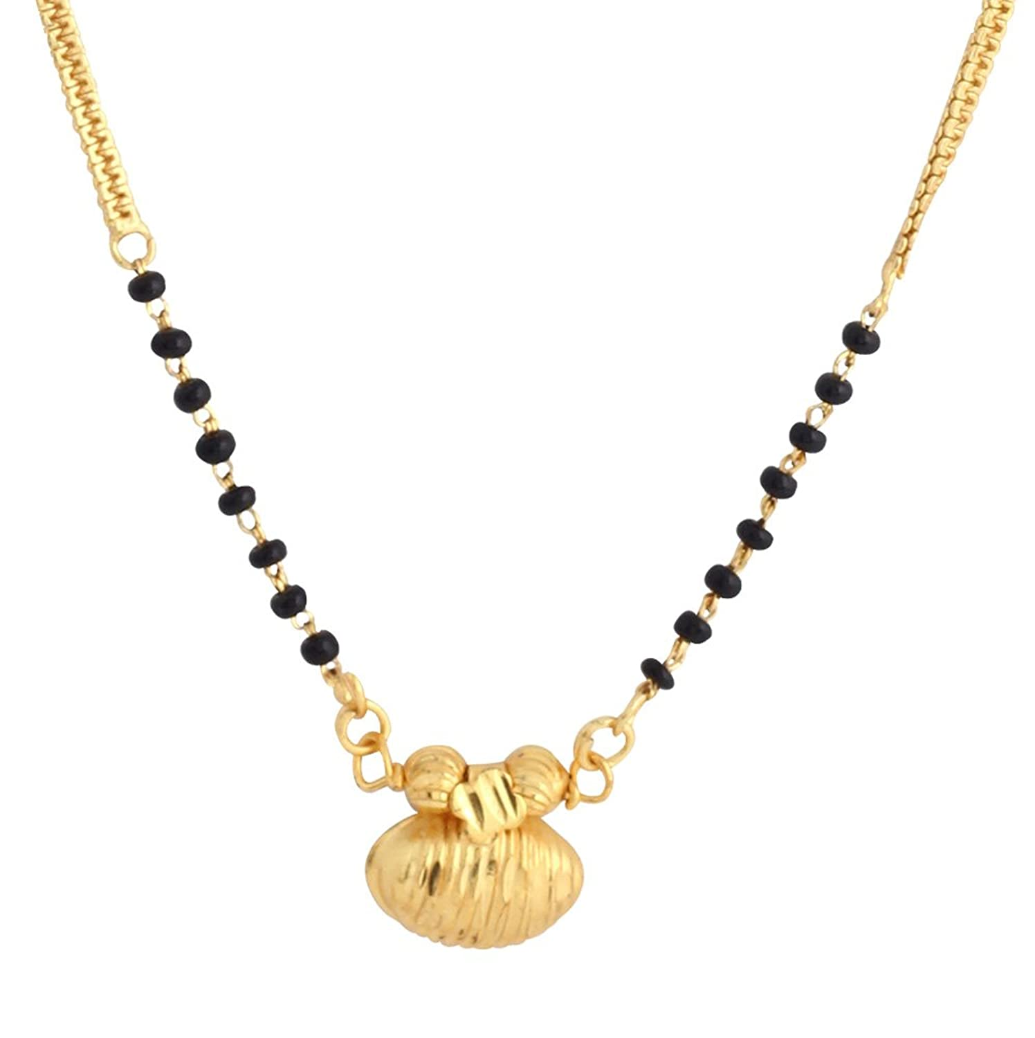 Mangal Sutra 23.5K Gold Plated ,Golden, 1 Piece Set