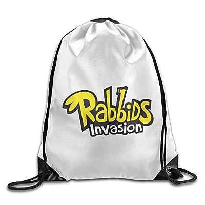 YesYouGO Rabbids Invasion Logo Unisex Drawstring Backpacks/Bags