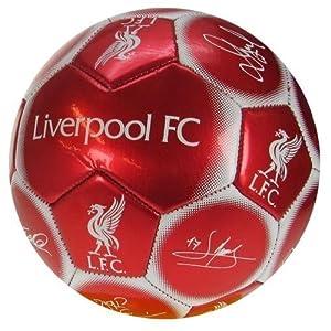 Team Signature Football Liverpool Size 5 by TU Football Souvenirs