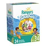 Pampers Splashers Size 3-4 Disposable Swim Pants 24 Count