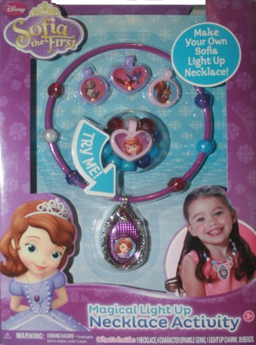 Disney Princess Sofia the First Magical Light Up Amulet Necklace Activity Kit - 1