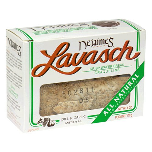 Buy Lavasch Crisp Wafers, Garlic Dill, 6-Ounce Packages (Pack of 12) (Lavasch, Health & Personal Care, Products, Food & Snacks, Snacks Cookies & Candy, Cookies, Wafers)