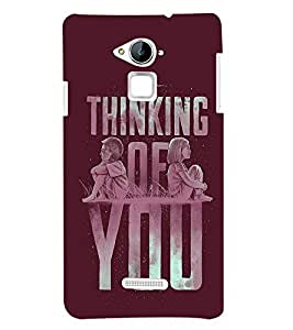 Fuson Thinking Of You Back Case Cover for Coolpad Note 3