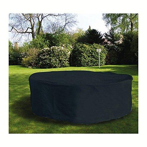 Schutzhülle für Sitzgruppe 230x135 cm oval anthrazit (9731)