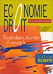 Economie, droit : 1er cycle universit...