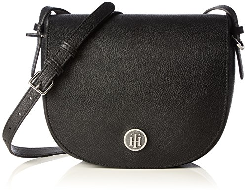 Tommy Hilfiger TH Core Med Crossover, Borsa a Tracolla Donna, Multicolore (Black / Iron 901 901), 23x8x21 cm (B x H x T)
