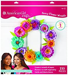 American Girl Crafts Wreath Kit, Cecile and Marie-Grace Paper Flower