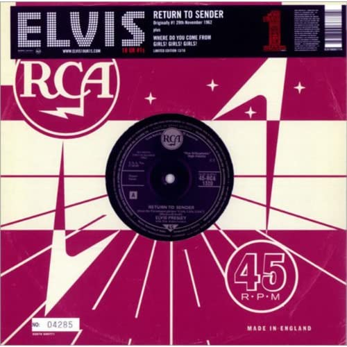 Return-to-Sender-10-inch-Analog-Elvis-Presley-LP-Record