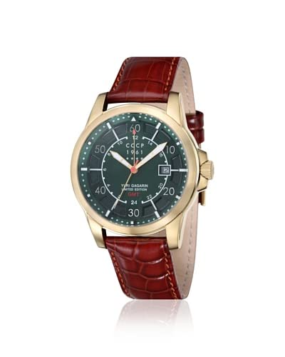 CCCP Men's CP-7003-01 Limited Edition Yuri Gagarin Brown/Green Watch