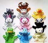 (ミィーリィ)動物 手 人形 アニマル ハンド パペット 幼児 情操 教育 親子 ふれあい おもちゃ 知育 人形劇 小道具 セット (全10種セット)