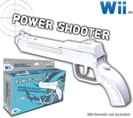 Wii Power Shooter Controller with Vibration Feedback