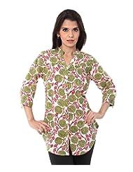 ENAH Mugal Flora Print Shirt-tunic - B00N2KLL26