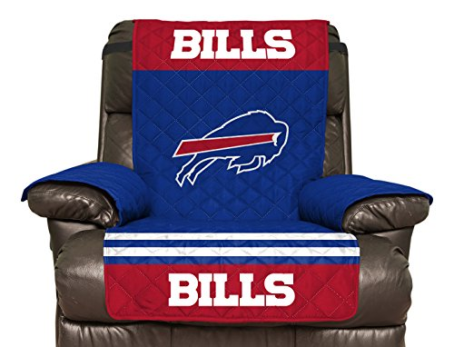 NFL Buffalo Bills Recliner Reversible Furniture Protector with Elastic Straps, 80-inches by 65-inches at SteelerMania