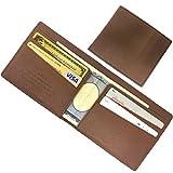 AVOIR(アヴォワール)金具無しで使い易い マネークリップ 薄い 財布 札入れ (ブラウン)