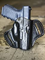 OUTBAGS LOB2P-G30 Black Genuine Leather OWB Open Carry Pancake, Side Carry Belt Holster for Glock 29, 30, 30S, 30SF. Handcrafted in USA.