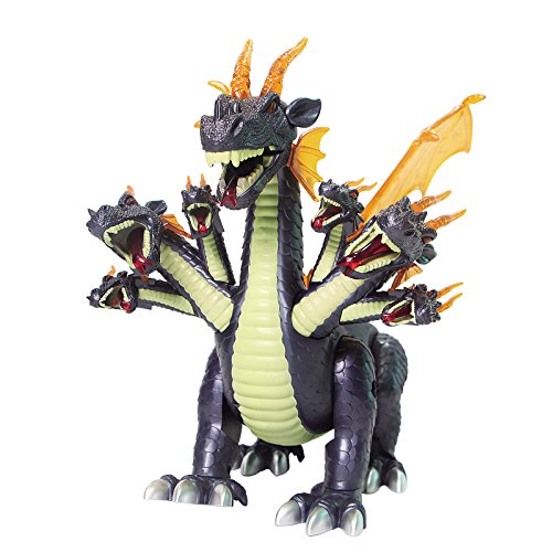 Mokasi Walking Seven Headed Dragon Toy Realistic Sounds and Fun Lights Action Figures (Blue) (Seven Headed Dragon compare prices)