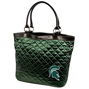 NCAA Michigan State Spartans Quilted Tote, Green