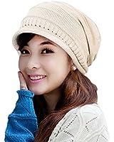 Imixcity Mode Désinvolte Unisexe Plicate Bouffant Calotte Crochet Ski Énorme Chapeau