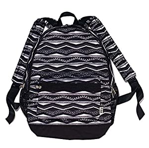 Victoria's Secret Black and White Aztec Style Lined Backpack PINK