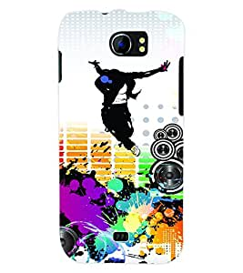 ColourCraft Music & Dance Back Case Cover for MICROMAX CANVAS 2 A110