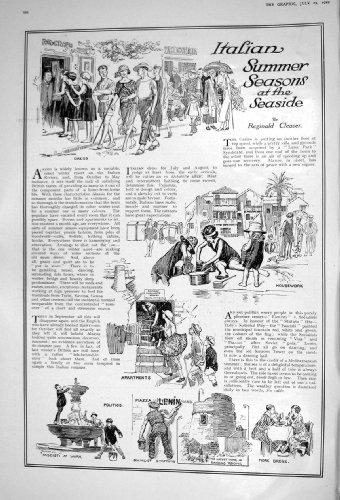 1922 ITALY SUMMER SEASON SEASIDE LADIES FASHION GABERDINE FROCK SILK GOWN
